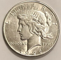 1926 S PEACE SILVER DOLLAR BU CONDITION $1 BEAUTIFUL COIN.  D3