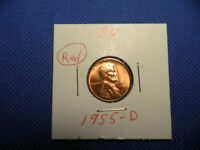 US MINT 1955 - D   RED LINCOLN PENNY UNC.