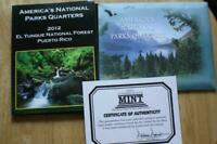 2012 AMERICA BEAUTIFUL EL YUNQUE NATIONAL FOREST GOLD COLOR