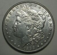 1898 MORGAN SILVER DOLLAR GRADING AU  UNCLEANED COIN PRICED RIGHT  B66