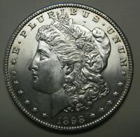 1898-O MORGAN SILVER DOLLAR GRADING CH BU  UNCLEANED COIN PRICED RIGHT  B68