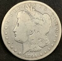 1894 P MORGAN SILVER DOLLAR G/VG DETAILS  KEY DATE COIN 110,000 MINTED
