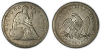1860-O $1 SEATED LIBERTY SILVER DOLLAR, VG/FINE DETAILS LOTS760