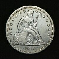 1846 $1 SEATED LIBERTY SILVER DOLLAR, VF DETAILS LOTS759