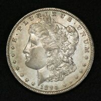 1894-O $1 MORGAN SILVER DOLLAR, BETTER DATE COIN AU/UNCIRCULATED DETS LOTS783
