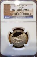2012 S CHACO NATIONAL PARK CLAD PROOF QUARTER NGC PF69 ULTRA