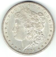 1891-S $1 MORGAN SILVER DOLLAR BETTER DATE GREAT DETAIL