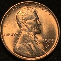 1955-D LINCOLN CENT DOUBLE DIE OBVERSE BEAUTIFUL RED GEM DDO VARIETY  GORGEOUS