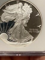 1994 P PROOF SILVER EAGLE CERTIFIED PF 69 ULTRA CAMEO BY NGC MIRROR FINISH