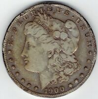 1900-S $1 MORGAN SILVER DOLLAR TOUGH DATE WITH RIM DINGS HOLE FILLER