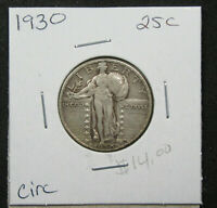 1930 25C STANDING LIBERTY QUARTER. CIRCULATED. PLEASING DETAIL. 1119301