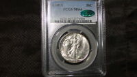 1945-S PCGS MINT STATE 66 CAC WALKING LIBERTY SILVER HALF DOLLAR- GEM CAC LOOKS 66