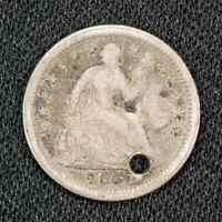 1851-O H10C SEATED LIBERTY HALF DIME, VG/F DETAILS LOTS847