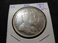N25 BRITISH STRAITS SETTLEMENTS 1904 DOLLAR UNC