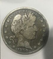 USA 1899 P BARBER HALF DOLLAR FIFTY CENTS NICE GREY COLOUR SHARP LOWER GRADE