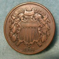 1866 TWO CENT PIECE VF    UNITED STATES COIN