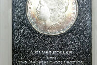 MINT STATE RAINBOW TONED 1891-S SILVER DOLLAR FROM THE REDFIELD HOARD MDX3860