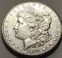 1891 S MORGAN SILVER DOLLAR. BU UNCIRCULATED GRADE COIN