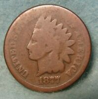 1877 INDIAN HEAD PENNY SOLID GOOD    UNITED STATES COIN