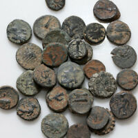 LOT OF 30 SELEUCID KINGDOM ANCIENT GREEK COINS  BRONZE ANTIO