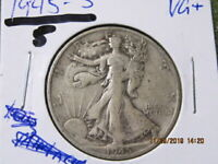 1945 S . 90  SILVER WALKING LIBERTY  U.S SHIPPING ONLY