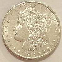 1891 S MORGAN SILVER DOLLAR HIGH GRADE COIN. BU UNCIRCULATED