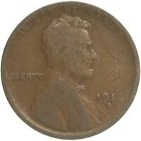 1916 D LINCOLN WHEAT CENT GOOD PENNY GD
