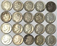 GREAT DEAL  LOT OF 20 SILVER ROOSEVELT DIMES.