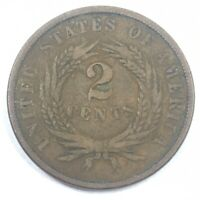 1866 TWO CENT PIECE   T193   NICE