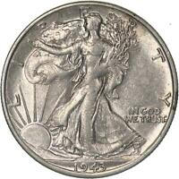1943 S WALKING LIBERTY HALF DOLLAR 90 SILVER ABOUT UNCIRCULATED AU
