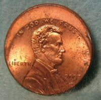 2007 D OFF CENTER LINCOLN MEMORIAL PENNY UNITED STATES ERROR