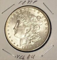 1887-P MORGAN SILVER  DOLLAR  CHOICE BU CONDITION BRIGHT WHITE BEAUTY