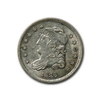 BUST HALF DIME 1836 3/INVERTED 3 ALMOST UNCIRCULATED