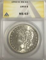 1903 MORGAN DOLLAR PLEASING ANACS  GRADED  MINT STATE 63