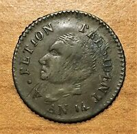 AN 14P  1817  HAITI 25 CENTIMES COIN SILVER 1YR. ONLY TYPE KM 15.2