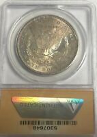 1880 S SILVER DOLLAR MS 64   ANACS REVERSE TONED ORIGINAL COIN