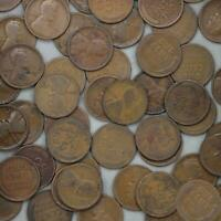 1916 D LINCOLN WHEAT CENT ROLL 50 CIRCULATED PENNIES US COINS