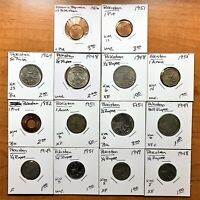 LOT OF 14 PAKISTAN 1948 1964 COINS   LARGE VARIETY   GREAT STARTER COLLECTION