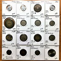 LOT OF SIXTEEN  16  PERU 1879 1987 COINS LARGE VARIETY OF TYPES AND NICE