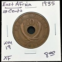 1935 EAST AFRICA 10 CENTS KING GEORGE V KM 19