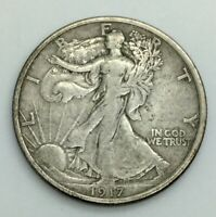 1917 P WALKING LIBERTY HALF DOLLAR  SILVER ORIGINAL MID RANGE COIN NO ISSUES