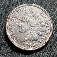 1863 INDIAN HEAD CENT   RAW CORRODED BUT NICE DETAILS BOLD LIBERTY