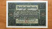 1920 GERMANY 10 MARKS BANKNOTE PICK 67A HIGH GRADE