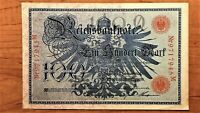 1908 GERMANY 100 MARKS BANKNOTE PICK 33A