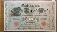 1910 GERMANY 1000 MARKS BANKNOTE PICK 44B NICE NOTE