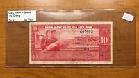 1962 SOUTH VIETNAM 10 DONG BANKNOTE PICK 5