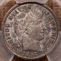 1897 O TOUGH DATE BARBER DIME PCGS AU58 ONLY 5 GRADED   DAVI