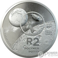POLYMER PUTTY R2 MOON LANDING 1 OZ SILVER COIN 2 RAND SOUTH