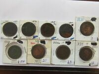 U.S. 15 LARGE CENTS   1807 TO 1839