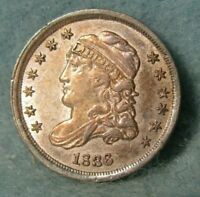 1836 CAPPED BUST SILVER HALF DIME ALMOST UNCIRCULATED  ALBUM